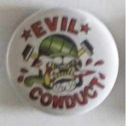 Przypinka. Evil Conduct - pies