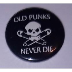 Przypinka. Old Punx Never Die