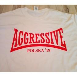 T-shirt. Aggressive