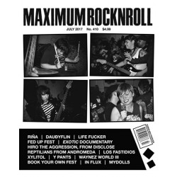 Zine. Maximum Rock'n'roll...